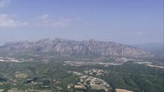 Montserrat mountains Stock Footage