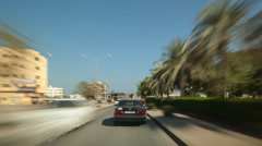 drive in desert and small towns across uae - stock footage