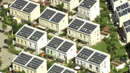 Stock Video Footage of Houses with solar power panels in Germany