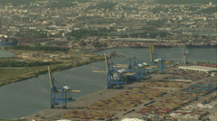 Le Havre docks Stock Footage