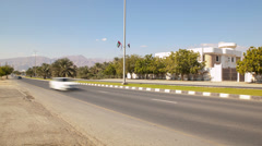 open road drive in desert and small towns across uae - stock footage