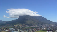 Clouds over Table Mountain Stock Footage