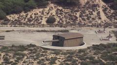 Gun in bunker in Portugal Stock Footage