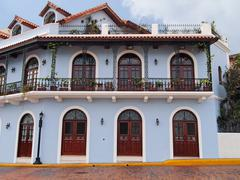 Colonial house in central america Stock Photos
