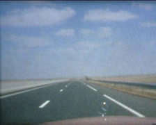 SUPER8 driving 1970's Mercedes in Morocco Stock Footage