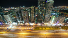 high traffic road in dubai city - stock footage
