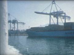 SUPER8 SPAIN Algeciras harbor Stock Footage