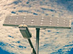 Stock Photo of street light and solar pannel