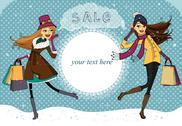Stock Illustration of winter holiday shopping promo