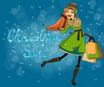Christmas discounts Stock Illustration