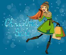 Stock Illustration of christmas discounts