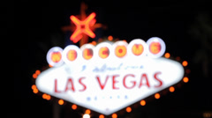 Las Vegas Sign, Focussing Stock Footage
