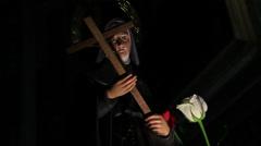 St Rita of Cascia, Augustinian nun, 1 Stock Footage