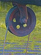 Stock Photo of 'rahate', a pulley used for drawing water out of a well