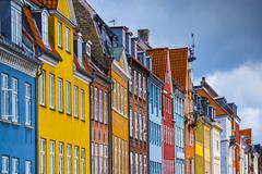 nyhavn buildings - stock photo