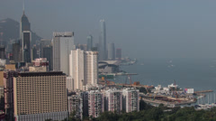 Hong Kong harbour time lapse during the day Stock Footage