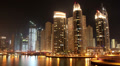 Timelapse: Fantastic Night Dubai Marina, United Arab Emirates Footage