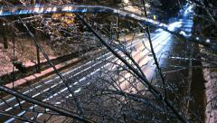 Ice Highway Zoom In Timelapse Winter Stock Footage