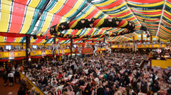 Hippodrom at Oktoberfest Stock Footage