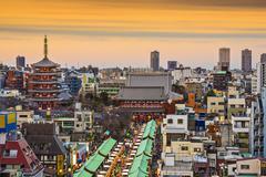 asakusa, tokyo, japan - stock photo