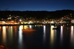 Avalon Bay Catalina at Night Stock Photos