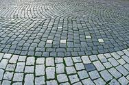 Stock Photo of cobblestone sidewalk made of cubic stones 2