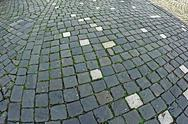 Stock Photo of cobblestone sidewalk made of cubic stones 6