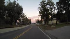 Driving POV, fast curves, sunset, Mulholland Drive, Los Angeles 2 Stock Footage