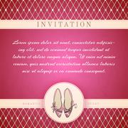 cinderella princess invitation template - stock illustration