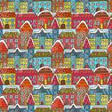 Stock Illustration of winter houses seamless pattern