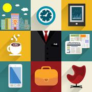 Stock Illustration of business set of generic icons