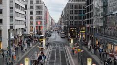 Berlin, Germany at Friedrichstrasse Stock Footage