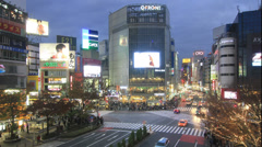 4K UHD Shibuya Crossing Crowd, Tokyo - stock footage
