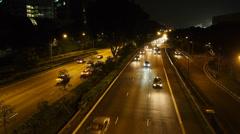 Stock Video Footage of night traffic