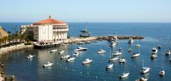 Avalon Bay Catalina Casino Stock Photos