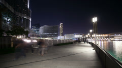 Walking street near burj khalifa Stock Footage