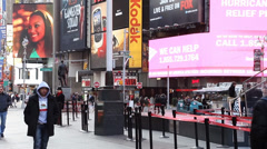 Electronic Billboard Ads in Times Square New York City - stock footage