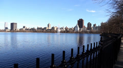 The Lake in Central Park, Jacqueline Kennedy Onassis Reservoir Stock Footage