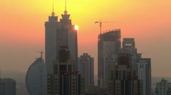 Skycreapers timelapse at sunset 4K Stock Footage