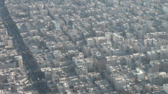 Tehran apartment buildings and streets, urban planning Iran Stock Footage