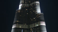 Burj khalifa in dubai city Stock Footage