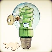 Stock Illustration of key to alternative energy, concept