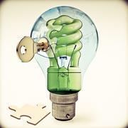 Key to alternative energy, concept Stock Illustration