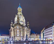 dresden, germany square - stock photo