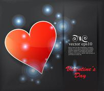 Stock Illustration of Valentine card. Vector