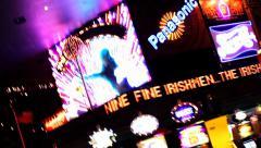 Las Vegas, Casino Lights Stock Footage