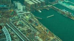 Tsim Sha Tsui port in Kowloon, Hong Kong Stock Footage