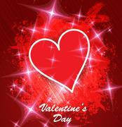 Valentine card. Vector - stock illustration