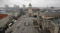 Berlin at Gendarmenmarkt Stock Footage
