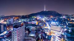 Seoul, South Korea Cityscape Kuvituskuvat